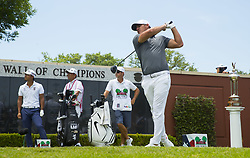 May 26, 2018 - Fort Worth, TX, USA - FORT WORTH, TX - MAY 26, 2018 - Brooks Koepka tees off on the first hole to start the third round of the 2018 Fort Worth Invitational PGA at Colonial Country Club in Fort Worth, Texas (Credit Image: © Erich Schlegel via ZUMA Wire)