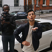 London,England,UK : 23th May 2016 : Junaid Ahmad is not really a celebrities but his images and personality and his social of celebrities and working hard Star of channel 5.<br /> Channel 5 filming Junaid Ahmad documentary why young people in UK getting into plastic surgery at Harley Street, London. Photo by See Li