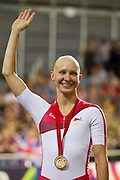 Mcc0055084 . Daily Telegraph<br /> <br /> England's Joanna Rowsell wins Gold in the Individual 3000m Pursuit on Day Two of the 2014 Commonwealth Games in Glasgow .<br /> <br /> 25 July 2014