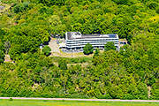 Nederland, Gelderland, Wageningen, 13-05-2019; zicht op de Wageningse berg met hotel-restaurant.<br /> View of the Wageningse berg with hotel restaurant<br /> <br /> luchtfoto (toeslag op standard tarieven);<br /> aerial photo (additional fee required);<br /> copyright foto/photo Siebe Swart