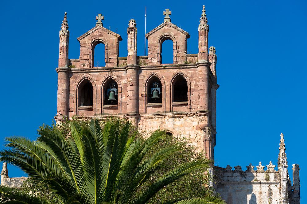 Iglesia de Santa Maria de Los Angeles 13th and 16th Century church in San Vicente de la Barquera, Cantabria, Northern Spain