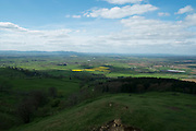 Spring countryside view near Great Comberton at Bredon Hill in Worcestershire, England, United Kingdom.