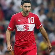 Turkey's Mehmet EKICI during their a international friendly soccer match Turkey betwen Estonia at TT Arena Istanbul August 10, 2011. Photo by TURKPIX