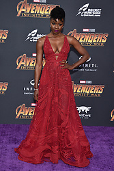 Danai Gurira attends the World Premiere of Avengers: Infinity War on April 23, 2018 in Los Angeles, Ca, USA. Photo by Lionel Hahn/ABACAPRESS.COM