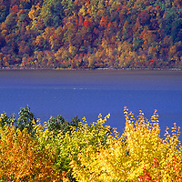 Fall on the Hudson looking on the Palisades from Westchester Co Upstate New York
