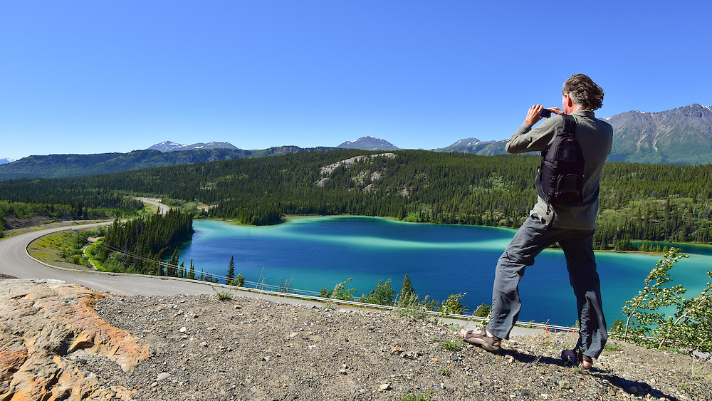 Taking in the view on a beautiful Yukon day!