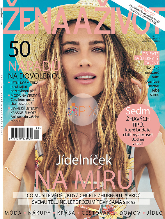 Our fresh summer cover for the June issue of ZENA A ZIVOT magazine in Czech Republic.<br /> <br /> Image from our shoot 'all summer long', available for worldwide use with approval: http://www.apixsyndication.com/gallery/all-summer-long/G0000nqeuOc0x86A/C0000mozbWc6K5.E