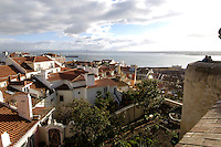 01 JAN 2006, LISBON/PORTUGAL:<br /> Blick auf die Daecher von Alfama, einem historischen Stadtteil der Stadt Lissabon<br /> View on the rooftops of Alfama, a historical district of the city of Lisbon<br /> IMAGE: 20060101-01-008<br /> KEYWORDS: Lisboa, roof, Dach, Dächer, Reise, travel, Stadtansicht, Europa, europe, cityscape