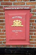 Old letter box Zuiderzee museum, Enkhuizen, Netherlands