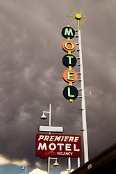 motel sign in Albuquerque, New Mexico on historic Route 66