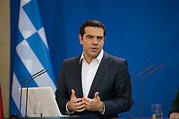 DEU, Deutschland, Germany, Berlin, 16.12.2016: Der griechische Ministerpräsident Alexis Tsipras bei einer Pressekonferenz im Bundeskanzleramt.