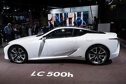 New Lexus LC500h hybrid coupe at Paris Motor Show 2016