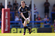 Bradford Bulls stand off Jordan Lilley (28) in action during the Kingstone Press Championship match between Rochdale Hornets and Bradford Bulls at Spotland, Rochdale, England on 18 June 2017. Photo by Simon Davies.