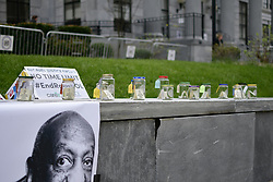 April 24, 2018 - Philadelphia, PA, United States - Scene outside the court house as the Bill trail goes on on day 12 at the Montgomery County Court House, in Norristown, PA, on April 24, 2018. (Credit Image: © Bastiaan Slabbers/NurPhoto via ZUMA Press)