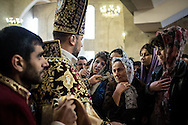 Armenians from around the region attended the Easter service at St. Gregory Cathederal in Yerevan, Armenia.