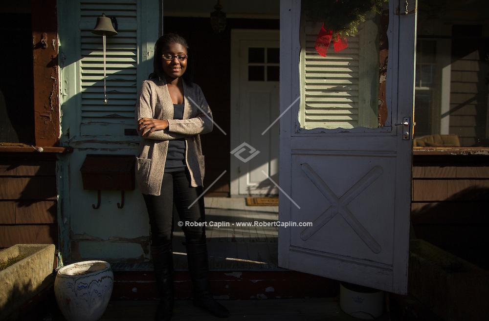 Danyelle McInnis at her home on New York's Long Island. ..Photo © Robert Caplin..