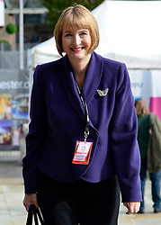© Licensed to London News Pictures. 03/10/2012. Manchester, UK Deputy Leader of the Labour Party Harriet Harman arrives to give her speech on Day 5 at The Labour Party Conference at Manchester Central today 3rd october 2012. Photo credit : Stephen Simpson/LNP