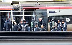 Manchester United Team catch a train - 4 March 2018