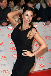 at the National Television Awards at the 02 Arena in London, UK. 23 Jan 2018 Pictured: Katie Price. Photo credit: MEGA TheMegaAgency.com +1 888 505 6342