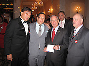 **EXCLUSIVE**.Gils Aubry & NY Mayor Michael Bloomberg..Tommy Belisis CEO of John Thomas Financial receives Man of The Year for leadership and services from Michael Bloomberg..Fundraiser for Mike Bloomberg Campaign..Villa Veron Manor..Bronx, NY, USA..Thursday, October 22, 2009..Photo By Celebrityvibe.com.To license this image please call (212) 410 5354; or Email: celebrityvibe@gmail.com ; .website: www.celebrityvibe.com.
