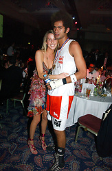 MISS AYESHA MAKIM neice of Sarah, Duchess of York and STEVE WOOD at the Boodles Boxing Ball in aid of the sports charity Sparks  organised by Jez lawson, James Amos and Charlie Gilkes held at The Royal Lancaster Hotel, Lancaster Terrae London W2 on 3rd June 2006.<br /> <br /> NON EXCLUSIVE - WORLD RIGHTS