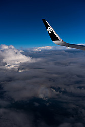 WELLINGTON, June 2, 2019  File photo taken on Oct. 30, 2018 shows an Air New Zealand plane in the sky. An Air New Zealand plane from Palmerston North to Christchurch was forced to return on June 1, 2019 after being struck by lightning. .   The incident took place less than 12 hours after another Air New Zealand flight from Auckland to Tahiti was struck by lightning about 10 minutes after it took off on Friday evening, local media reported. (Credit Image: © Xinhua via ZUMA Wire)