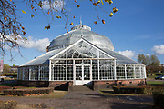 The Peoples Palace and Winter Gardens Glasshouse on the 2nd November 2018 in Glasgow in the United Kingdom. The Peoples Palace and Winter Gardens in Glasgow is a museum and glasshouse situated in Glasgow Green.