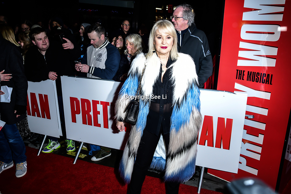Nicki Chapman Arrivals at Pretty Woman The Musical press night at Piccadilly Theatre on 2nd March 2020, London, UK.