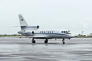 O Falcon da Força Aerea Portuguesa que transporta Sua Exc. Presidente da Republica Portuguesa, aterra em solo angolano, para uma visita de estado de 5 a 9 de Março. Luanda