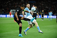 Brazilian defender Thiago Silva of Paris Saint Germain and Norwegian forward Jo Inge Berget of Malmo FF in action during the UEFA Champions League Group A football match between Paris Saint Germain and Malmo FF on September 15, 2015 at Parc des Princes stadium in Paris, France. Photo Jean Marie Hervio / Regamedia / DPPI
