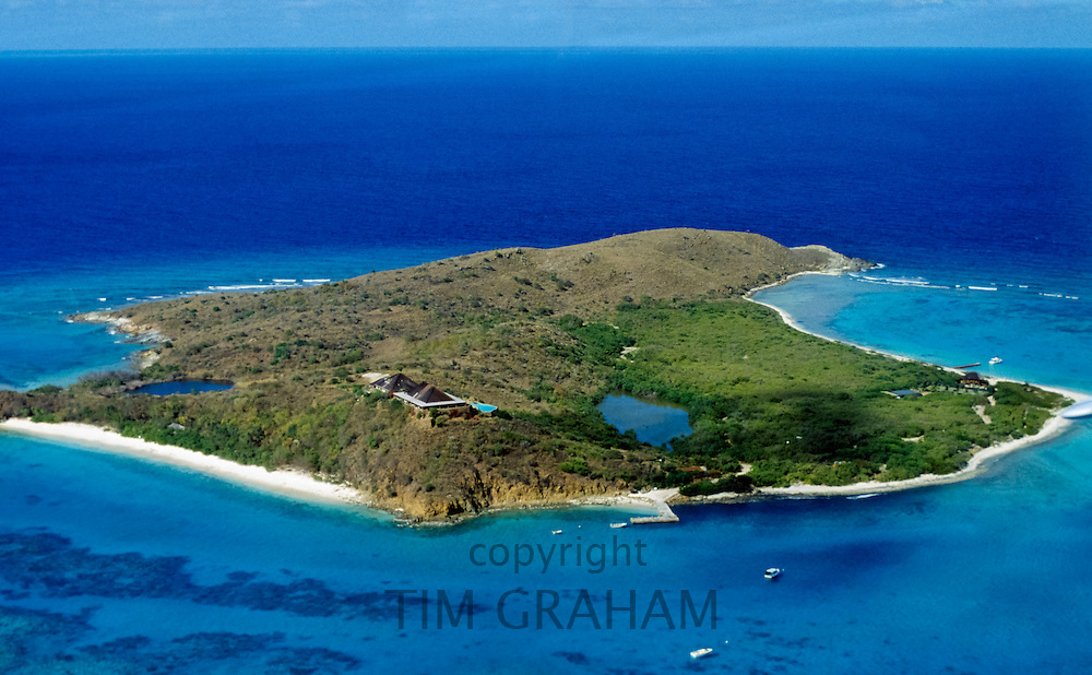 Sir Richard Branson's home on the island of Necker, in the British Virgin Isles