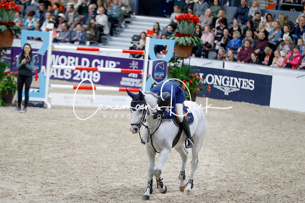 Fuchs Martin, SUI, Clooney 51<br /> Jumping Final Round 2<br /> Longines FEI World Cup Finals Jumping Gothenburg 2019
