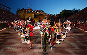 The Edinburgh Royal Military Tattoo 2012 on the Castle Esplanade ...02-08-12.        .The cast of the Tattoo in tonights opening performance at the Royal Edinburgh Military Tattoo 2012....At The Edinburgh Castle Esplanade, Edinburgh...Picture Mark Davison/ ProLens PhotoAgency/ PLPA.Thursday  2nd August 2012.