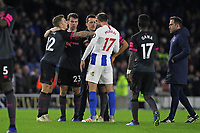 Football - 2018 / 2019 Premier League - Brighton and Hove Albion vs. Everton<br /> <br /> Lucas Digne of Everton pushes Glenn Murray of Brighton after the two come together after the final whistle at The Amex Stadium Brighton <br /> <br /> COLORSPORT/SHAUN BOGGUST