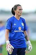 Shannon Lynn (#12) of Scotland warms up ahead of the 2019 FIFA Women's World Cup UEFA Qualifier match between Scotland Women and Switzerland at the Simple Digital Arena, St Mirren, Scotland on 30 August 2018.