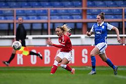 Ebony Salmon of Bristol City Women has a shot on goal - Mandatory by-line: Ryan Hiscott/JMP - 18/10/2020 - FOOTBALL - Twerton Park - Bath, England - Bristol City Women v Birmingham City Women - Barclays FA Women's Super League