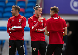 CARDIFF, WALES - Saturday, June 5, 2021: Wales' captain Gareth Bale (C) on the pitch before an International Friendly between Wales and Albania at the Cardiff City Stadium in their game before the UEFA Euro 2020 tournament. (Pic by David Rawcliffe/Propaganda)
