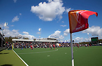 EINDHOVEN - Hoekvlag met clubhuis van OR,  de kwartfinale van de Euro Hockey League (EHL)  COPYRIGHT KOEN SUYK