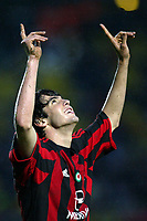 Siena 17/4/2004 Campionato Italiano Serie A <br />30a Giornata - Matchday 30 <br />Siena Milan 1-2 <br />Kaka esulta per il gol della vittoria del Milan (1-2). <br />Kaka celebrates goal of 1-2 for AC MIilan <br /> Foto Graffiti