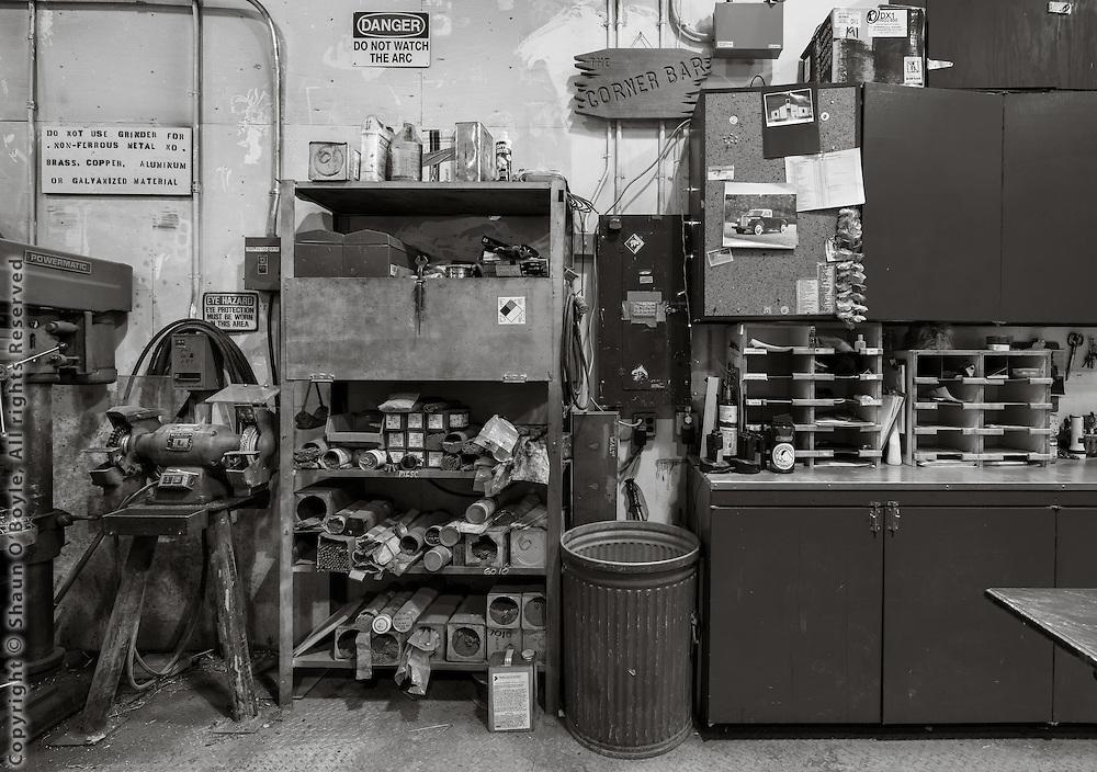Sunday morning in the FEMC Trade Shops. All quiet.