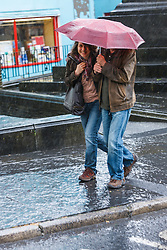 People in rain, Ennis, County Clare, Ireland