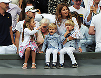 Tennis - 2017 Wimbledon Championships - Week Two, Sunday [Day Thirteen]<br /> <br /> Men Doubles Final match<br /> <br /> Marin Cilic (CRO) vs Rodger Federer (SUI)<br /> <br /> Rodger Federer's Family watch from the players box on  Centre court <br /> <br /> COLORSPORT/ANDREW COWIE