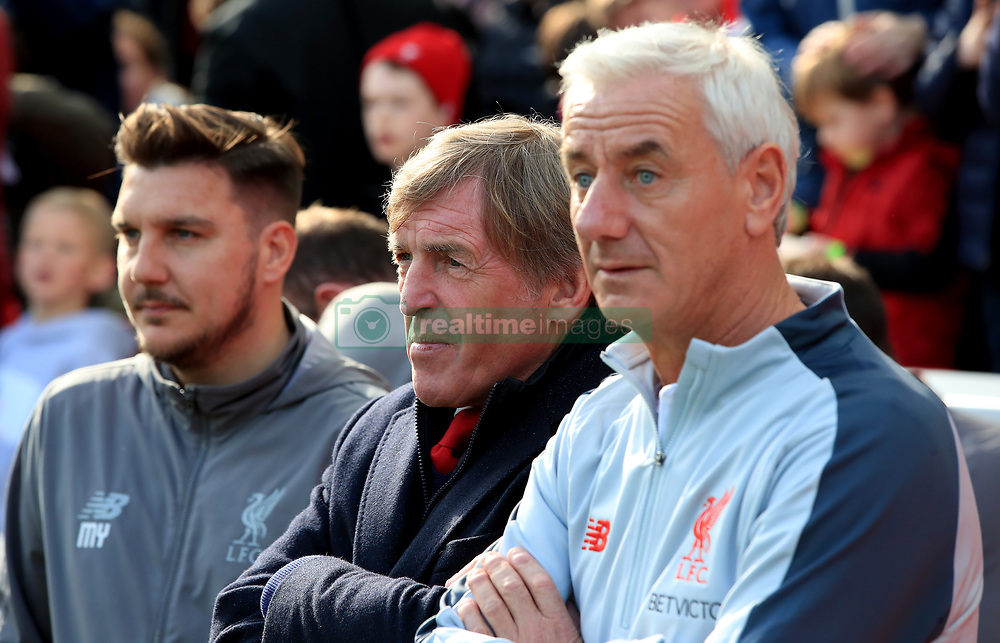Kenny Dalglish and Ian Rush (right) during the Legends match at Anfield Stadium, Liverpool.