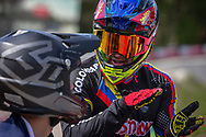 #8 (RAMIREZ YEPES Carlos Alberto) COL during round 4 of the 2017 UCI BMX  Supercross World Cup in Zolder, Belgium.