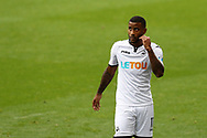 Luciano Narsingh of Swansea city looks on.  Premier league match, Swansea city v Huddersfield Town at the Liberty Stadium in Swansea, South Wales on Saturday 14th October 2017.<br /> pic by  Andrew Orchard, Andrew Orchard sports photography.
