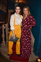 Lily Lewis and Farleigh Hungerford at Mark Shand's Adventures and His Cabinet Of Curiosities VIP private view, 32 Portland Place, London, England. 20 February 2018.