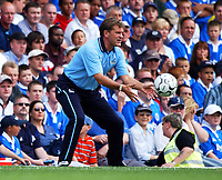 Tottenham Manager Glenn Hoddle. Birmingham City v Tottenham Hotspur, FA Premiership, 16/08/2003. Credit: Colorsport / Matthew Impey DIGITAL FILE ONLY