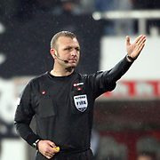 Referee's Tolga OZKALFA during their Turkish Superleague Derby match Besiktas between Trabzonspor at the Inonu Stadium at Dolmabahce in Istanbul Turkey on Sunday, 06 March 2011. Photo by TURKPIX