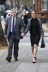 March 22, 2019 - London, London, UK - London, UK. Conservative MP Christopher Davies (L) arrives at Westminster Magistrates Court where he is accused of two offences of forgery and one of providing false or misleading information for expenses claims. (Credit Image: © Rob Pinney/London News Pictures via ZUMA Wire)