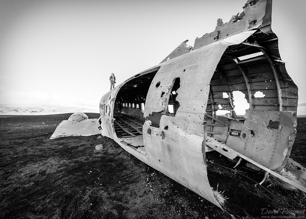 Abandoned plane wreck